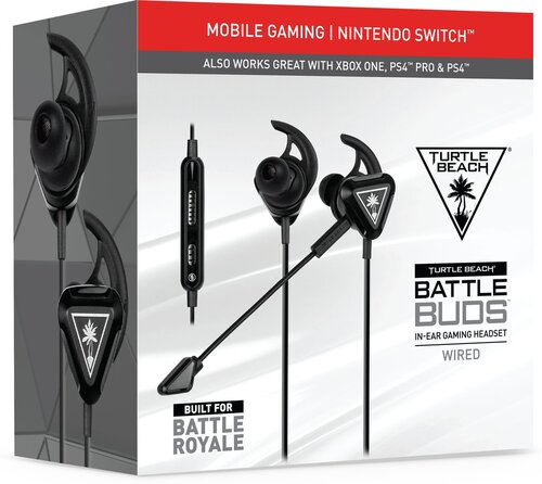 Turtle Beach Gaming Headset Zwart Battlebud (PS4 Switch Xbox One PC Mobile)