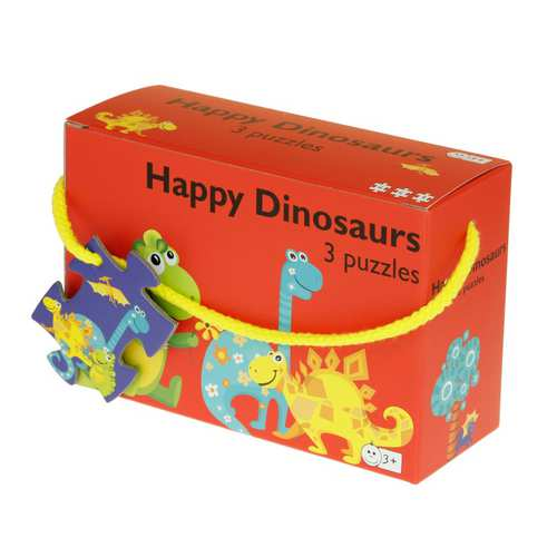 Afbeelding van Dinosauriërs - 3 puzzels