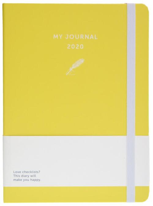 Afbeelding van My Journal agenda 2020 - Geel