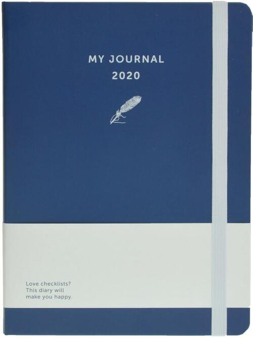 Afbeelding van My Journal agenda 2020 - Velvet blauw