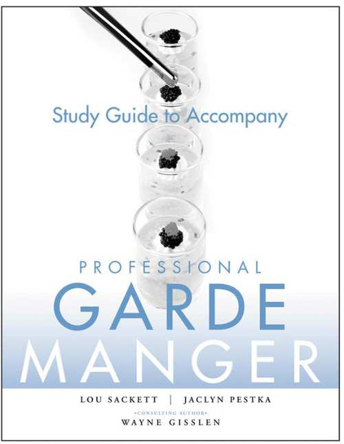 Afbeelding van Study Guide to accompany Professional Garde Manger: A Comprehensive Guide to Cold Food Preparation