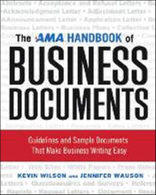 Afbeelding van The AMA Handbook of Business Documents