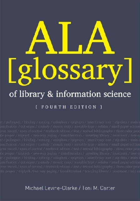 Afbeelding van ALA Glossary of Library and Information Science