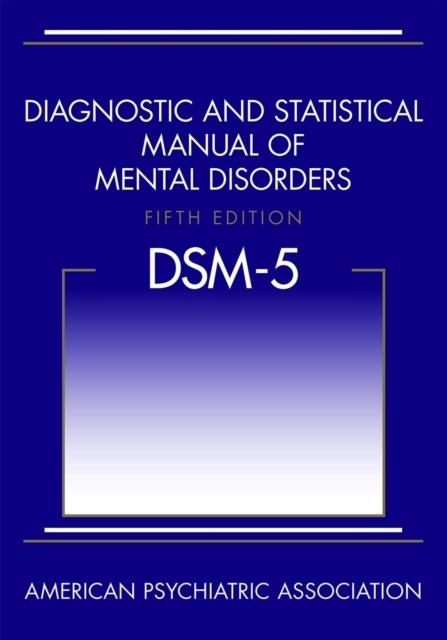 Afbeelding van Diagnostic and Statistical Manual of Mental Disorders (DSM-5