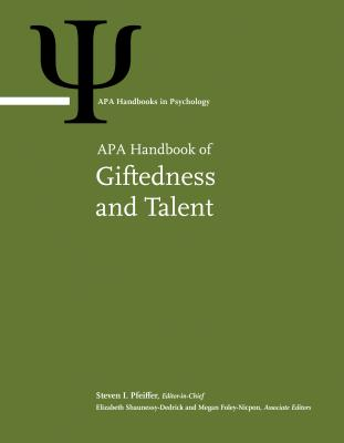 Afbeelding van APA Handbook of Giftedness and Talent