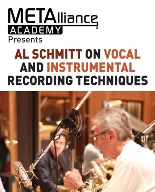 Afbeelding van Al Schmitt on Vocal and Instrumental Recording Techniques