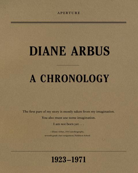 Afbeelding van Diane Arbus: A Chronology