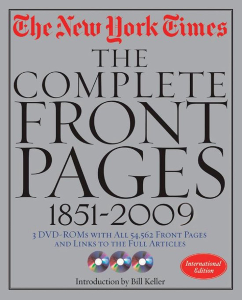 The New York Times - The Complete Front Pages (1851-2009)