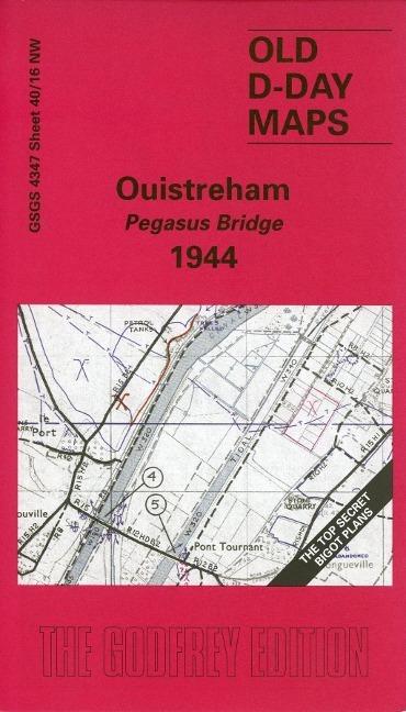Afbeelding van D-Day 40/16 Ouistreham - Pegasus Bridge 1944 1 : 25 000