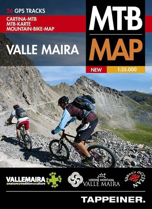Afbeelding van Moutainbike-Karte Valle Maira 1 : 35 000