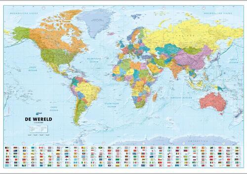 Afbeelding van ANWB Wereldkaart (Plano in Koker)