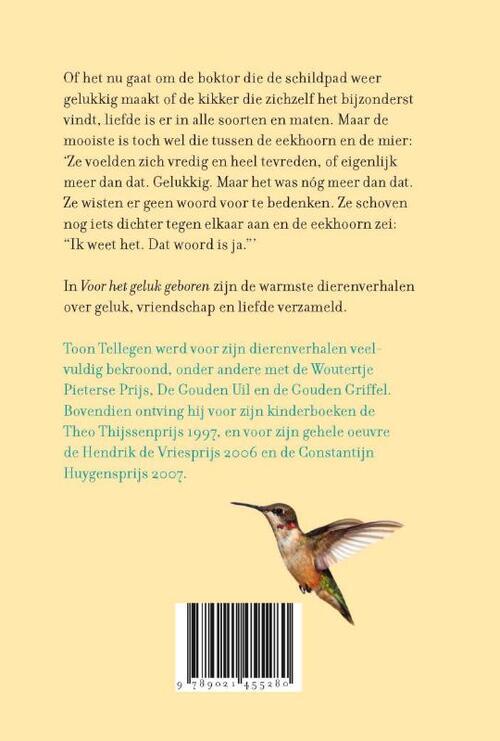 Verwonderlijk Voor het geluk geboren, Toon Tellegen | 9789021455280 | Boek OO-98