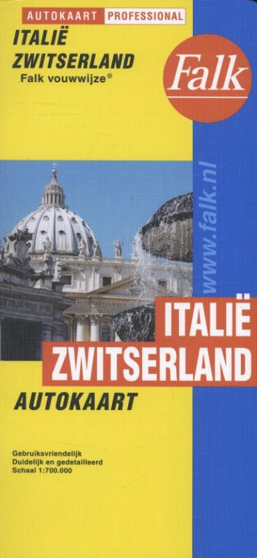 Falk autokaart Italië Zwitserland