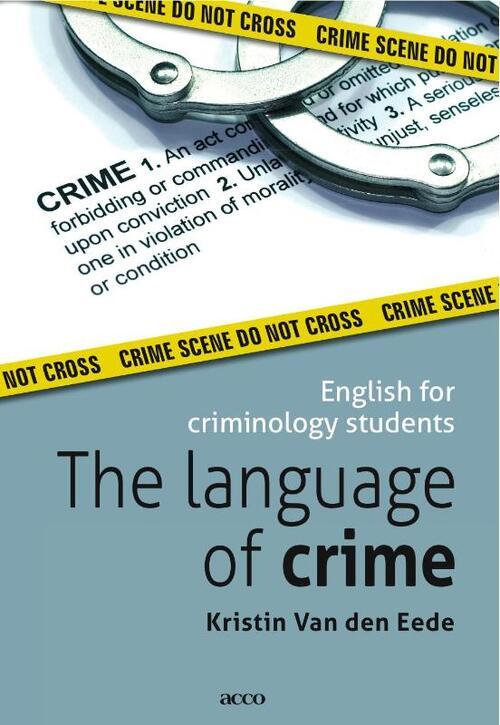 Afbeelding van The language of crime