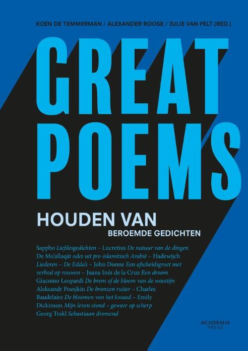 Afbeelding van Great poems