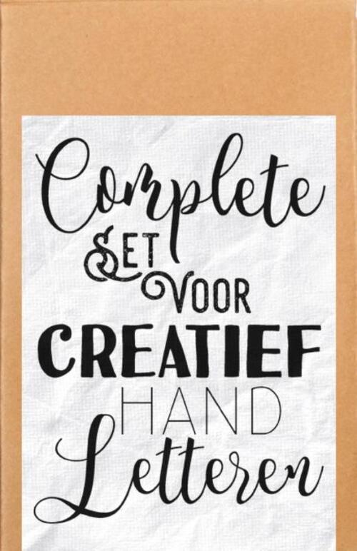 Afbeelding van Complete set voor creatief handletteren