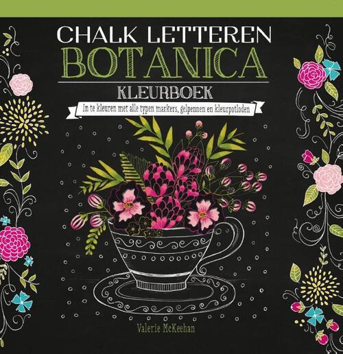 Afbeelding van Chalk letteren Botanica kleurboek