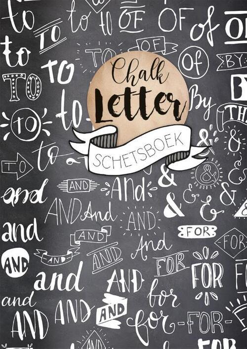 Afbeelding van Chalk letter schetsboek