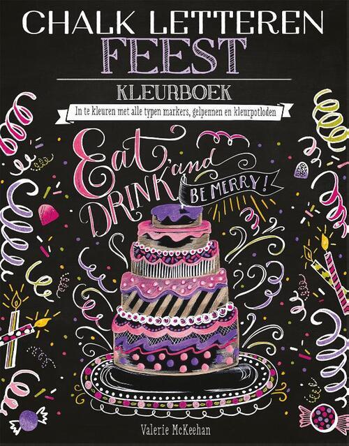 Afbeelding van Chalk letteren - Feest kleurboek