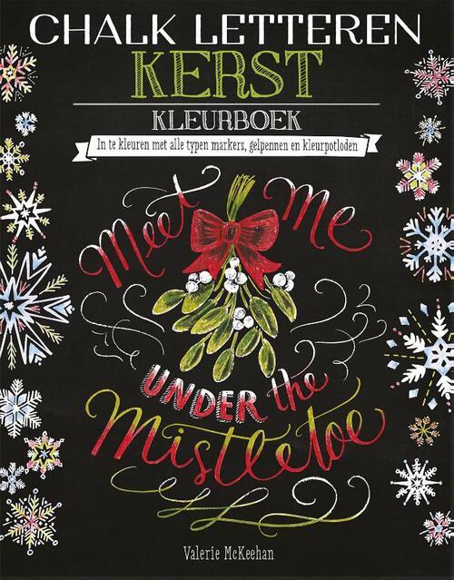 Afbeelding van Chalk letteren - Kerst kleurboek