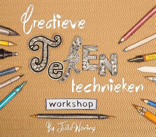 Afbeelding van Creatieve tekentechnieken workshop