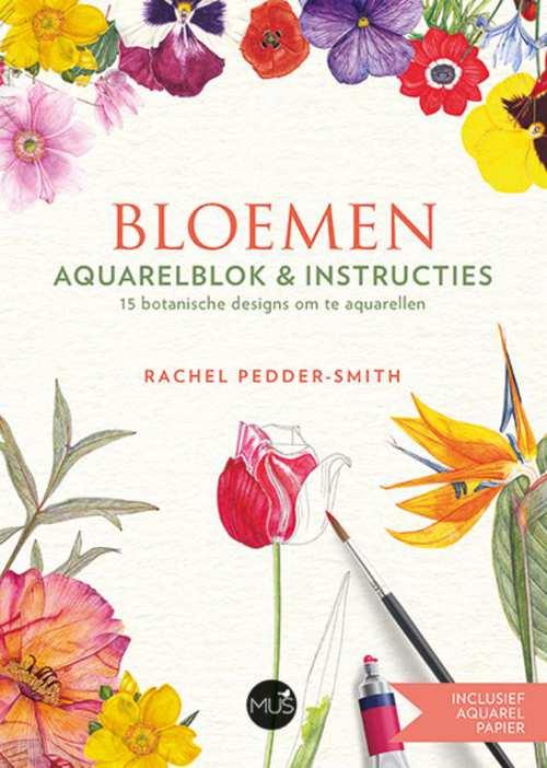 Afbeelding van Bloemen aquarelblok & instructies