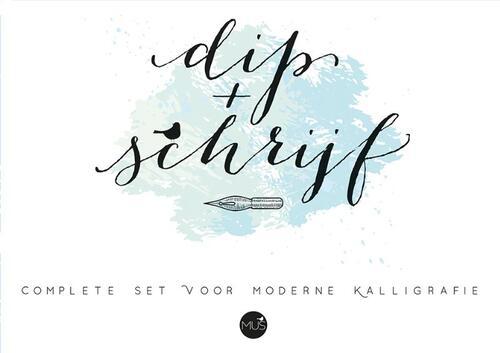 Afbeelding van Dip & schrijf kalligrafieset