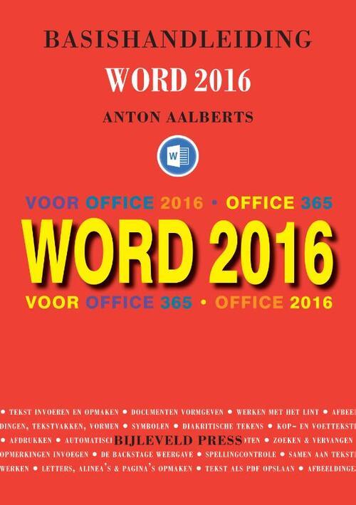 Afbeelding van Basishandleiding Word 2016