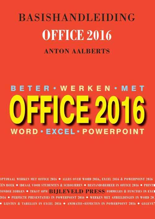 Afbeelding van Basishandleiding Beter werken met Office 2016