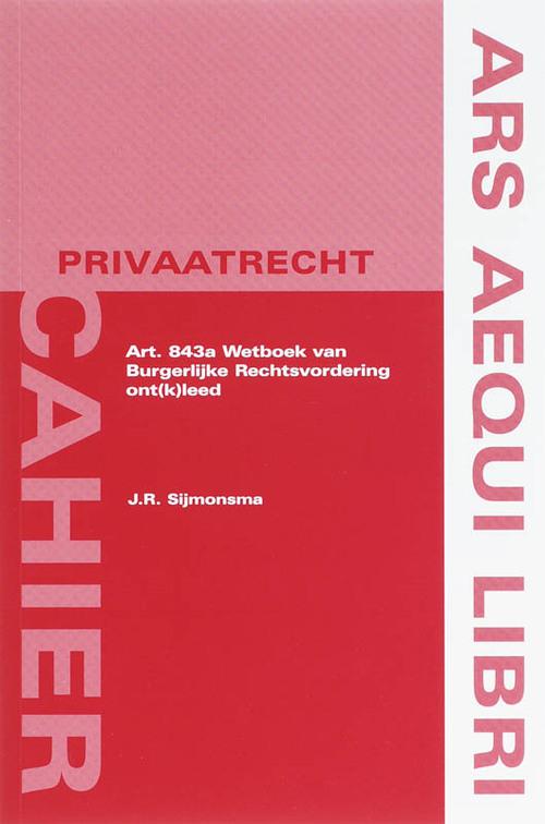 Afbeelding van Art. 843a Wetboek van Burgerlijke Rechtsvordering ont(k)leed