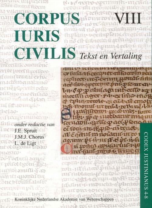Afbeelding van Corpus Iuris Civilis VIII; Codex Justinianus 4 - 8