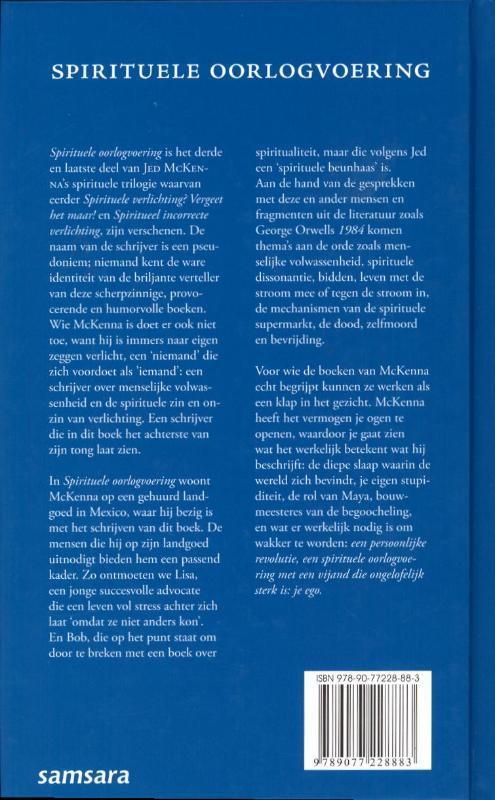 Spirituele oorlogvoering, Jed McKenna | 9789077228883 | Boek ...
