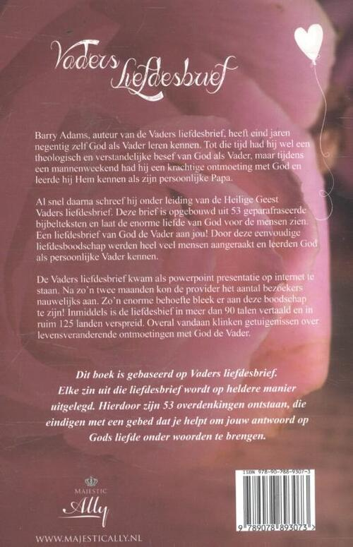 Ongekend Vaders liefdesbrief, Barry Adams | 9789078893073 | Boek - bookspot.nl SC-89