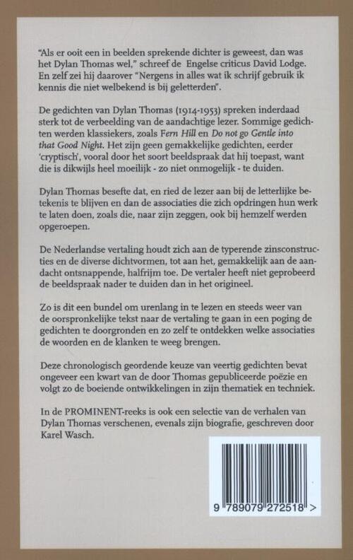 Gedichten Dylan Thomas 9789079272518 Boek Bookspotnl