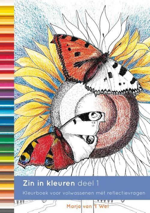 Afbeelding van Zin in kleuren 1 - Het mooiste kleurboek voor volwassenen met prikkelende vragen