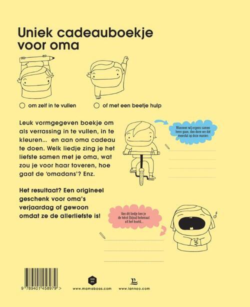 Hedendaags Voor mijn liefste oma, Mama Baas | 9789401458979 | Boek - bookspot.nl UV-43