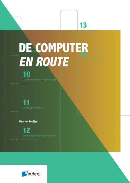 Afbeelding van De computer en route