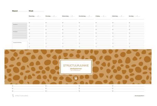 Afbeelding van De Structuurjunkie deskplanner