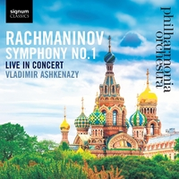 Symphony No. 1, Live In Concert-Philharmonia Orchestra-CD
