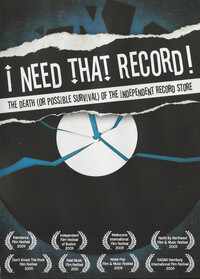 Movie/Documentary - I Need That Record! The Death (Or P-boek cover voorzijde