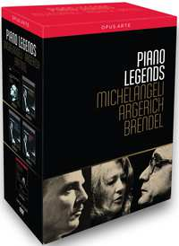 Michelangeli, Argerich, Brendel - Piano Legends-DVD