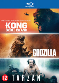Godzilla / Kong: Skull Island / The Legend Of Tarzan-Blu-Ray