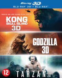 Godzilla / Kong: Skull Island / The Legend Of Tarzan (3D En 2D Blu-Ray)-3D Blu-Ray