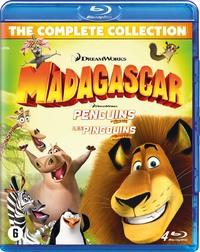 Madagascar 1-3 + Penguins-Blu-Ray