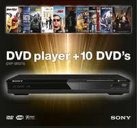 Sony DVD-Speler + 10 Films-DVD