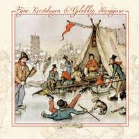 Kerstkaarten - Koek en zopie + IJstafereel bij brug-