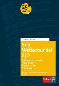 Sdu Wettenbundel Sociaal Juridische Dienstverlening 2018-2019-