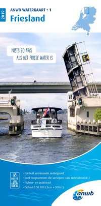 Waterkaart 1 Friesland 2019-Anwb