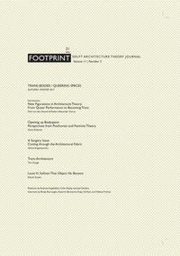 Footprint 21 Trans-Bodies / Queering Spaces-